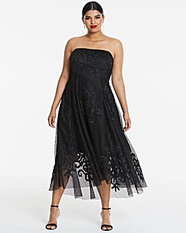 Joanna Hope Mesh Prom Dress