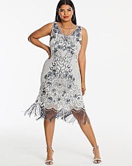 Joanna Hope Beaded Fringe Dress
