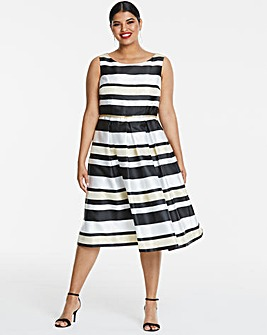 Joanna Hope Stripe Prom Dress