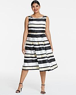 Joanna Hope Stripe Prom Dress