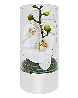 Glass LED Orchid Ornament