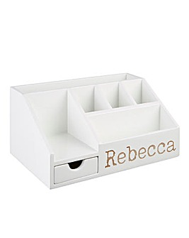 Personalised White Organiser
