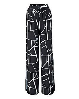 Joanna Hope Print Split Detail Trousers