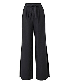 Joanna Hope Black Split Detail Trousers
