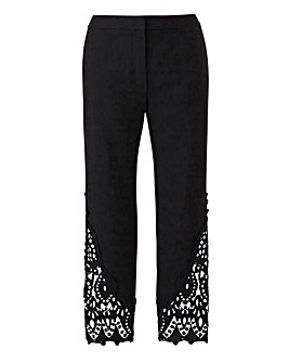 Joanna Hope Lace Detail Trousers