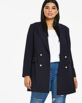 Joanna Hope Navy Tailored Blazer