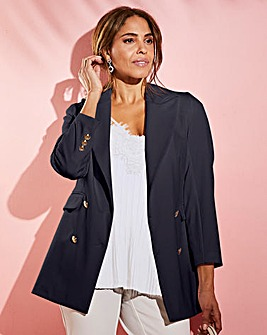 Joanna Hope Stretch Longline Tailored Jacket