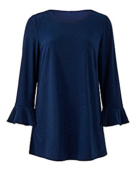Joanna Hope Navy Frill Sleeve Tunic