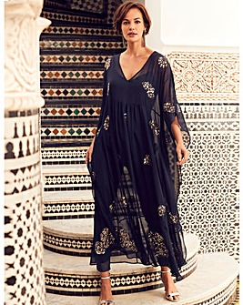 Joanna Hope Beaded Kaftan Dress
