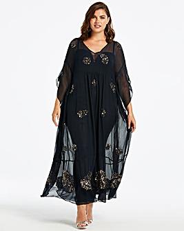 Joanna Hope Beaded Kaftan Dress