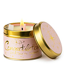 Lily-Flame Congratulations Candle Tin