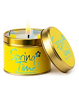 Lily-Flame Springtime Candle Tin