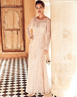 Joanna Hope Lace Beaded Maxi Dress