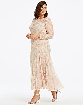 Joanna Hope Lace Beaded Maxi Dress