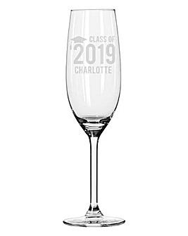 Personalised Graduation Flute Glass