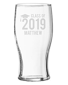 Personalised Graduation Pint Glass