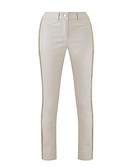 Joanna Hope Diamante Trim Shimmer Jeans