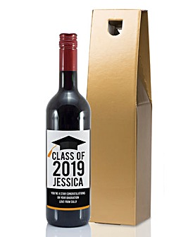 Personalised Graduation Wine Bottle