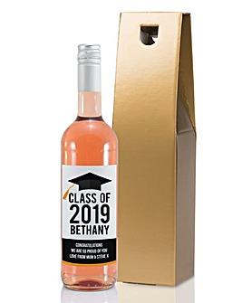 Personalised Graduation Wine Bottle