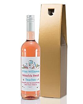 Personalised Best Teacher Wine Bottle