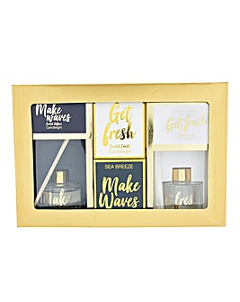Make Waves Get Fresh Candle and Diffuser Gift Set