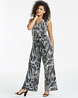 7e60270ea7f Joanna Hope Animal Print Jumpsuit