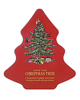 Wax Lyrical Tealights Christmas Tree Tin