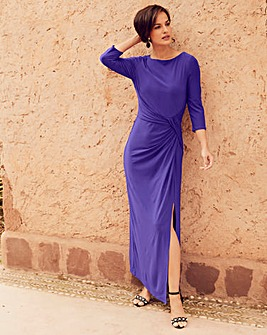 Joanna Hope Purple Jersey Maxi Dress