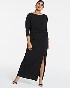 Joanna Hope Black Jersey Maxi Dress