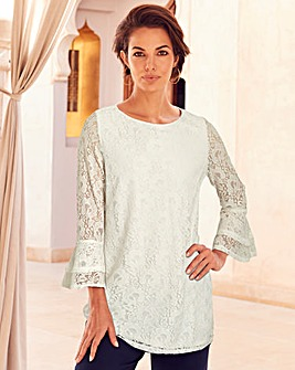 Joanna Hope Ivory Lace Tunic
