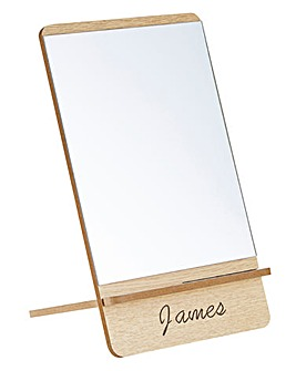 Personalised Wooden Travel Mirror