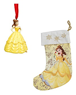 Disney Belle Tree Ornament and Stocking