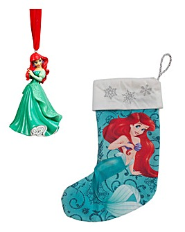 Disney Ariel Tree Ornament and Stocking