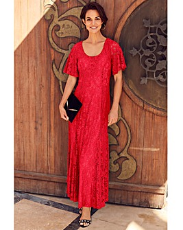 Joanna Hope Red Lace Maxi Dress