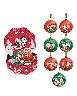 Disney Mickey & Minnie Set of 7 Baubles