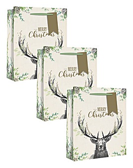 Set 3 Stag Gift Bags
