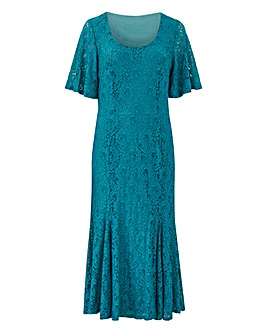 Joanna Hope Jade Lace Midi Dress