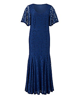 Joanna Hope Navy Lace Maxi Dress
