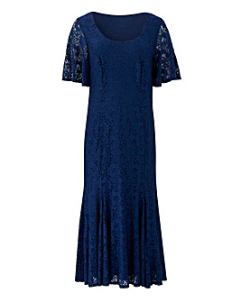 Joanna Hope Navy Lace Midi Dress