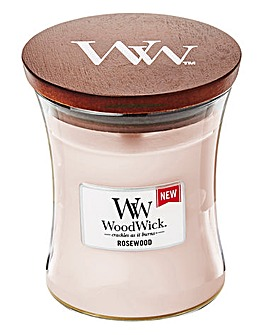 Woodwick Rose Wood Medium jar