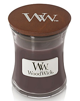 Woodwick Suede & Sandalwood Medium Jar