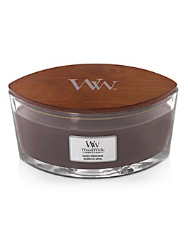 Woodwick Suede & Sandalwood Ellipse Jar