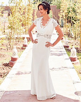 Joanna Hope Jewel Trim Bridal Dress