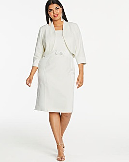 Joanna Hope Ivory Dress and Jacket