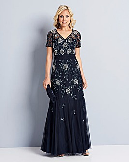 Nightingales Beaded Maxi Dress