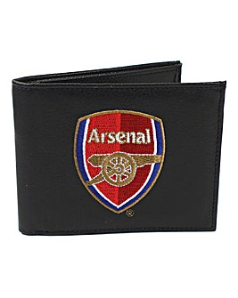Leather Embroidered Football Wallet