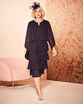 Nightingales Navy Layered Dress