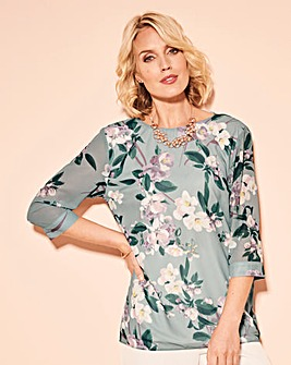 Nightingales Print Blouse