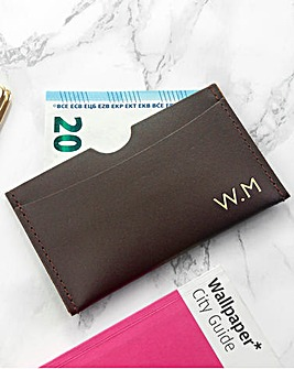 Personalised Faux Leather Card Holder