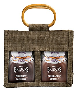 Mrs Bridges Chutneys for Cheese Gift Bag